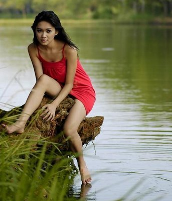 Indonesia Model Upskirt; Asian