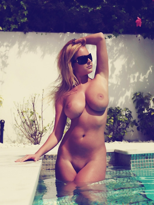 Sunning at the pool - We Luv Porn -; Babe