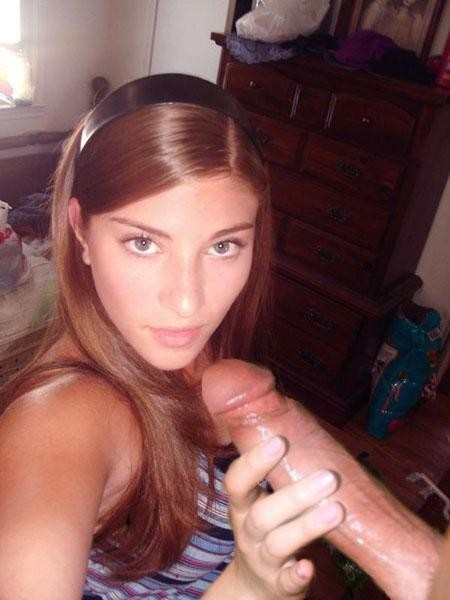 amazing eyes; Big Dick Brunette Handjob