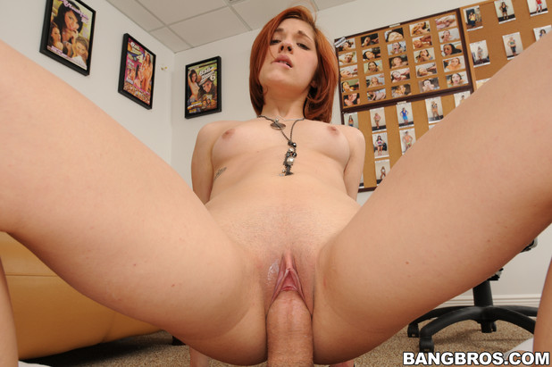 Pretty Redhead takes a huge dick !!!; Big Dick Red Head