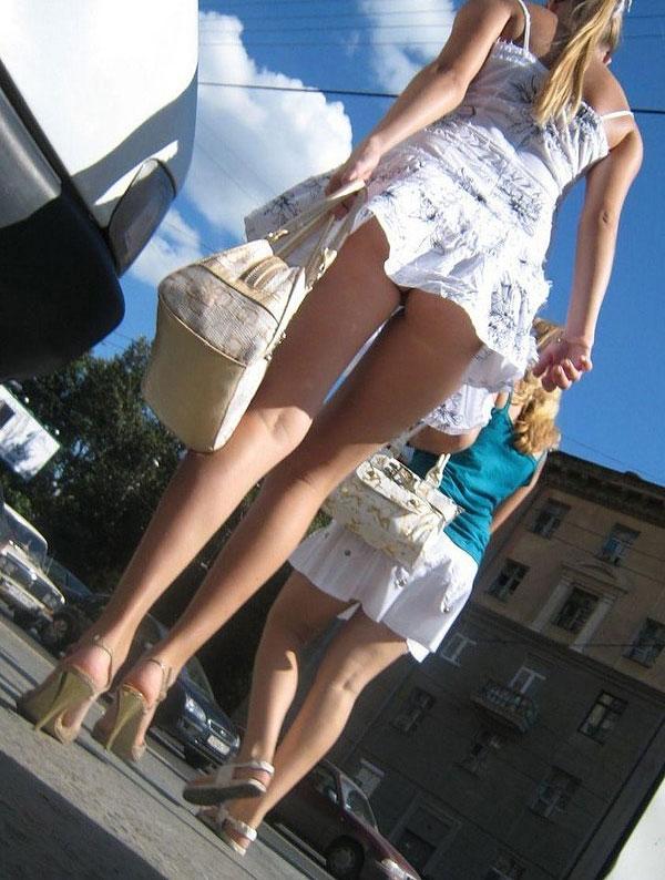 Windy Upskirt Upskirt In The Street; Amateur Public