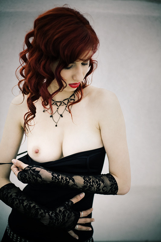 ...; Lingerie Red Head