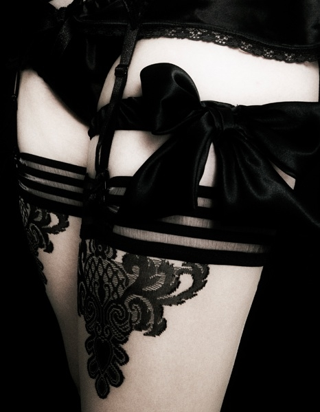 Black and white bows; Female Friendly Stylish Lingerie SFW