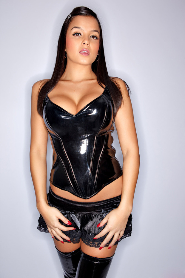...; Babe Big Tits Black Boobs Brunette Hot Latex Lingerie Non Nude